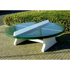 big round concrete table tennis table