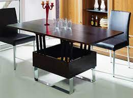 Transforming coffee and dining table ($259.62). Coffee Table That Converts To Dining Table Ikea Collection Awesome Brown Rectangle Modern Woo