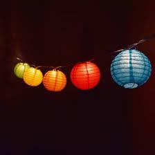 Colored Lantern String Lights