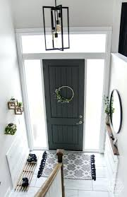 black double front doors. Black Wooden Double Front Doors Diy Split Level Entry Makeover I Love This The Oversize L