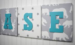 forest animals nursery letters