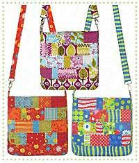 Mini Messenger Bag Pattern by Darci Wright of Quilts Illustrated & Mini Messenger Bag Pattern Adamdwight.com