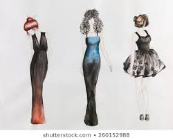 Royalty Free Pencil Sketches Dress Designs Stock Images Photos