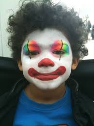 clowny face paint