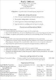 Housekeeper Resume Housekeeper Jobs Housekeeping Resume Template In Interesting Housekeeper Resume