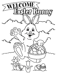 Coloring Sheets Easter Printables Welcome Bunny Coloring Page