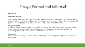 formal essay and informal familiar essay  8