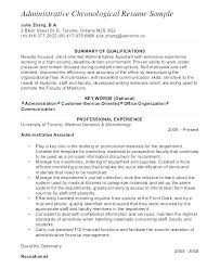 Samples Of Chronological Resumes New Sample Chronological Resume Template Newsph