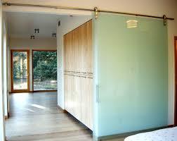 sliding glass barn doors bathroom