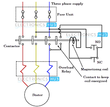 what is motor starter 3 Phase Motor Contactor Relay Wiring Diagram direct on line starter 3 Phase Switch Wiring Diagram