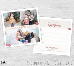 Christmas Gift Certificate Photoshop Template Photography Gift