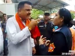 Video Of Bjp Mla Abusing Lady Cop In Rudrapur Goes Viral