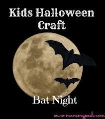 Bat Night Kids Halloween Craft + Free Bat Template - Mommyposh-Tools ...