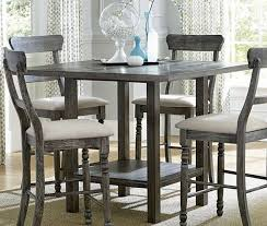 muses dove gray counter height dining table main image