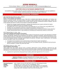 Database Engineer Sample Resume 10 Oracle Database Administrator