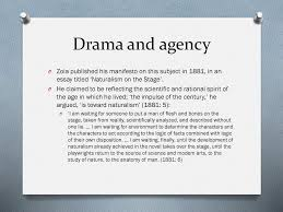 revision lecture en european theatre ppt video online  drama and agency zola published his manifesto on this subject in 1881 in an essay