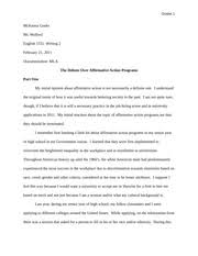 i am affirmative action identify and describe the elements of  12 pages affirmative action pros and cons essay