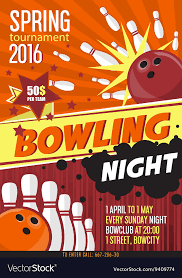 Bowling Event Flyer Template Bowling Tournament Poster Template Design With