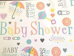 Baby Shower Gift Wrap. High Quality Wrapping Paper. Unisex. 2 ...