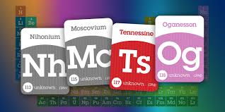 New Elements added to the Periodic Table of Elements -
