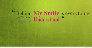 Quotes on smile Behind my smile sad quote on wallpaper 88