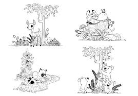 Small Picture Items similar to Woodland Forest Animals Coloring Pages for