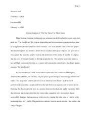 litr essay critical analysis of richard cory and i m  4 pages the war prayer critical essay