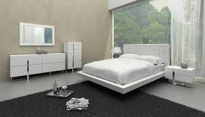 details about white leather pattern headboard king size bedroom set 6pcs vig modrest voco