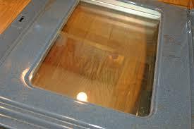 clean oven door glass