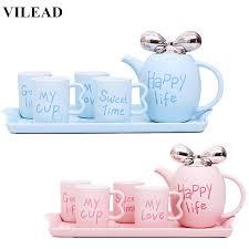 VILEAD <b>Fashion British Ceramic Coffee</b> Cup Set European Cute ...