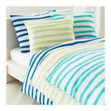 ikea springkorn queen full duvet cover set wavy striped turquoise white