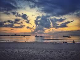 sunset painting sky cloud beach island landscape