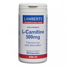 <b>L</b>-<b>Carnitine 500mg</b>   Single Amino Acids   Lamberts Healthcare