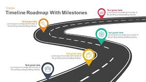road map powerpoint template free timeline roadmap with milestones keynote and powerpoint template