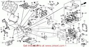 honda civic 1991 m 4dr lx ka kl fuse box relay horn fuse box relay horn schematic