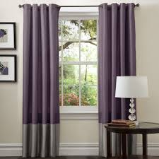 Purple Living Room Curtains Lush Decor Prima Grey Purple 84 Inch Curtain Panel Pair By Lush