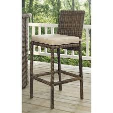crosley bradenton outdoor wicker bar stool with cushion set of 2