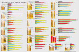 Hunting Caliber Chart Wall Poster Illustrates Hunting Cartridges And Game Species