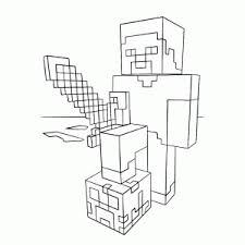Kleurplaten Enzoknol Minecraft Kids N Fun De 19 Ausmalbilder Von