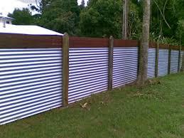 metal corrugated metal fence