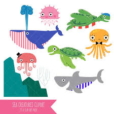 cute sea animals clipart. Wonderful Animals Image 0 Intended Cute Sea Animals Clipart T