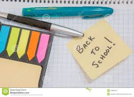Back To School Sticky Note Reminder Stock Image Image Of