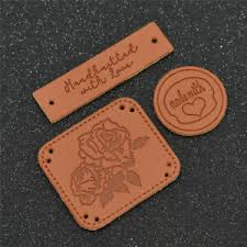 Diy Clothing Label Details About 50pcs Sythetic Leather Handmade Label Tags Diy Clothing Sewing Accessories