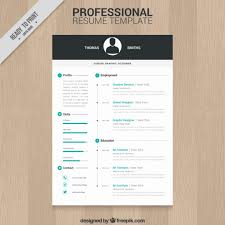 Resume Design Templates New Professional Resume Template Vector Free Download
