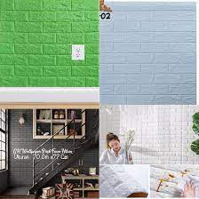 Wallpaper 3D Modern Foam Batu Bata Wall ...