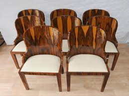 Art Deco Dining Chairs Awesome Set Art Deco Dining Chairs Rosewood Furniture  1920s Interiors