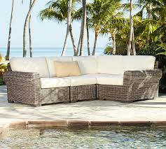 huntington all weather wicker roll arm sectional set