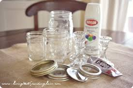 diy mason jar candy pedestals project supplies