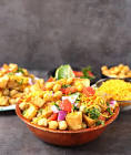 aloo channa chaat  tangy potato chickpea snack
