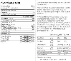 cheez it reduced fat original baked snack ers nutrition facts
